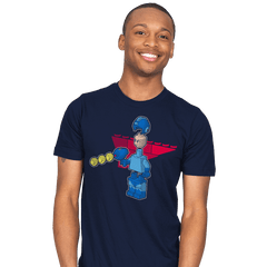 Block Man - Mens - T-Shirts - RIPT Apparel