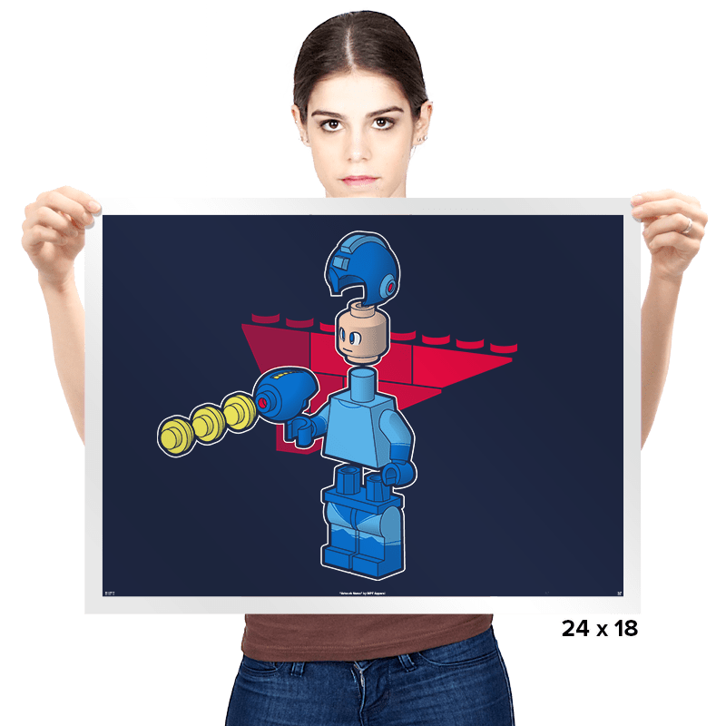 Block Man - Prints - Posters - RIPT Apparel