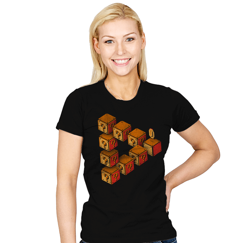 Mystery Block Illusion - Womens - T-Shirts - RIPT Apparel