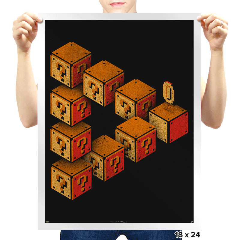 Mystery Block Illusion - Prints - Posters - RIPT Apparel