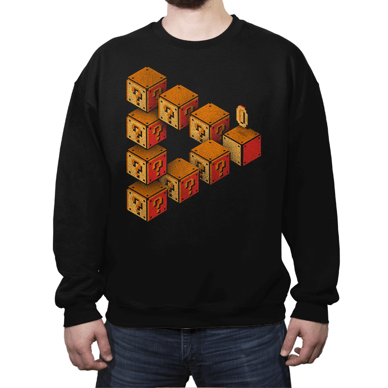 Mystery Block Illusion - Crew Neck - Crew Neck - RIPT Apparel