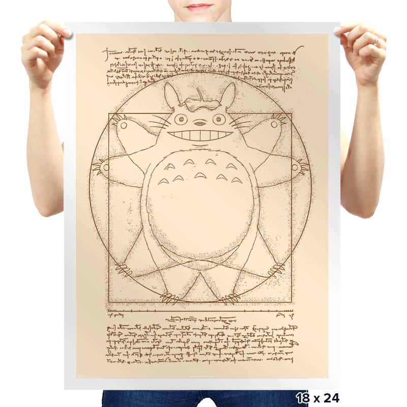 Vitruvian Neighbor - Prints - Posters - RIPT Apparel