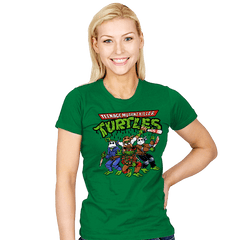 Killer Turtles - Womens - T-Shirts - RIPT Apparel