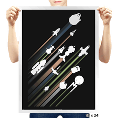 .5 Past lightspeed - Prints - Posters - RIPT Apparel