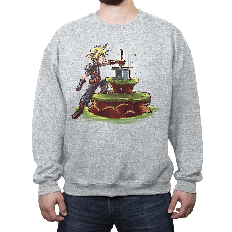 Buster Sword in the Stone - Crew Neck - Crew Neck - RIPT Apparel