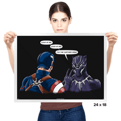 Captain Panther - Prints - Posters - RIPT Apparel