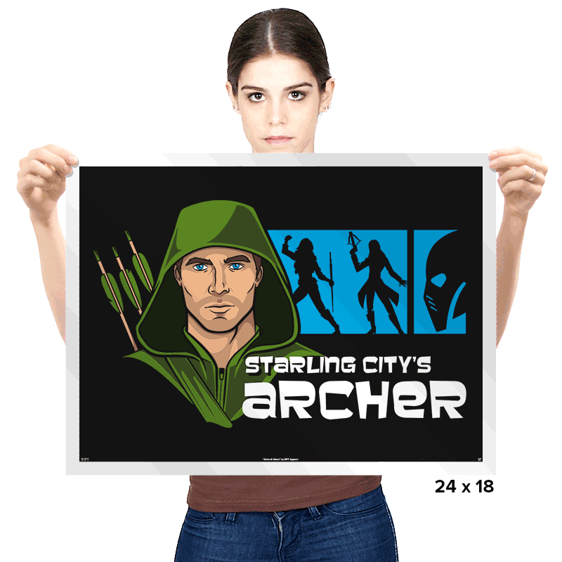 Starling City's Archer - Prints - Posters - RIPT Apparel