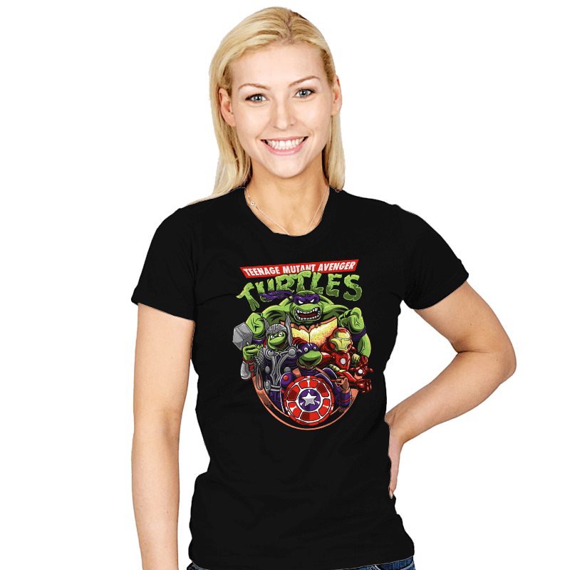Teenage Mutant Avenger Turtles - Womens - T-Shirts - RIPT Apparel