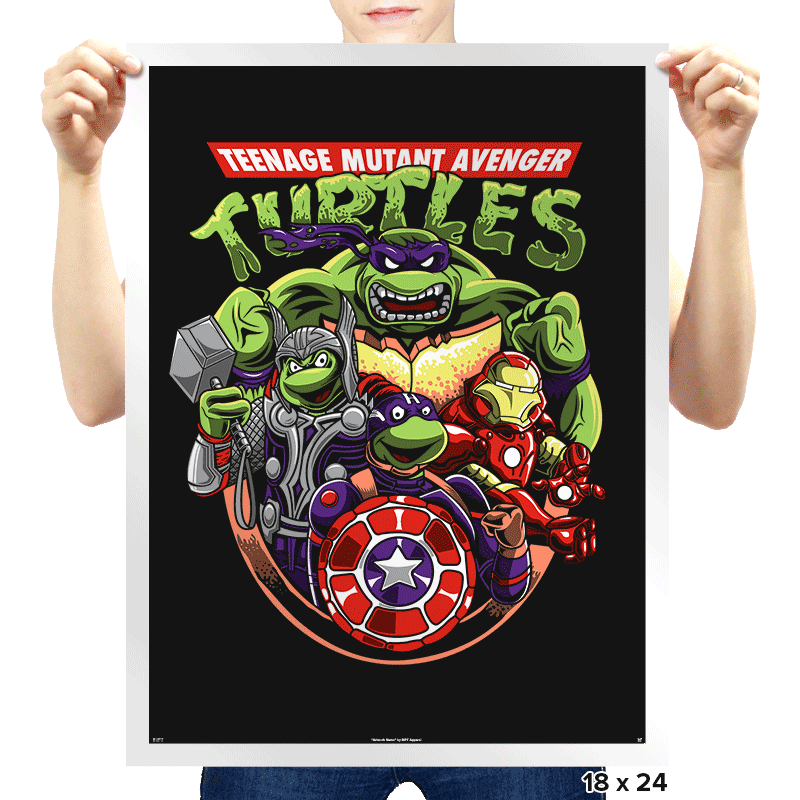 Teenage Mutant Avenger Turtles - Prints - Posters - RIPT Apparel