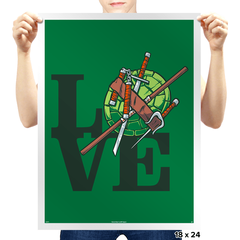 Turtle Love Exclusive - Prints - Posters - RIPT Apparel