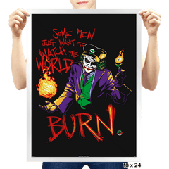 Watch The World Burn Exclusive - Prints - Posters - RIPT Apparel