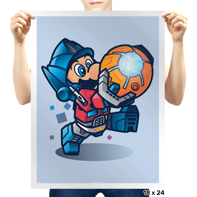 Mario Prime Exclusive - Prints - Posters - RIPT Apparel