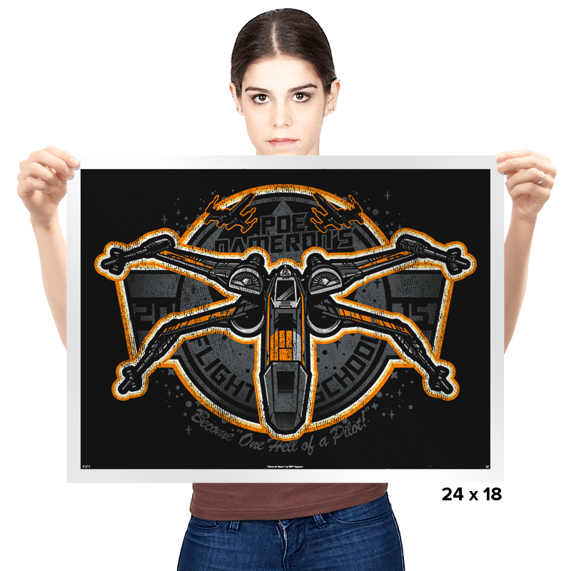 Poe's Flight School Exclusive - Prints - Posters - RIPT Apparel