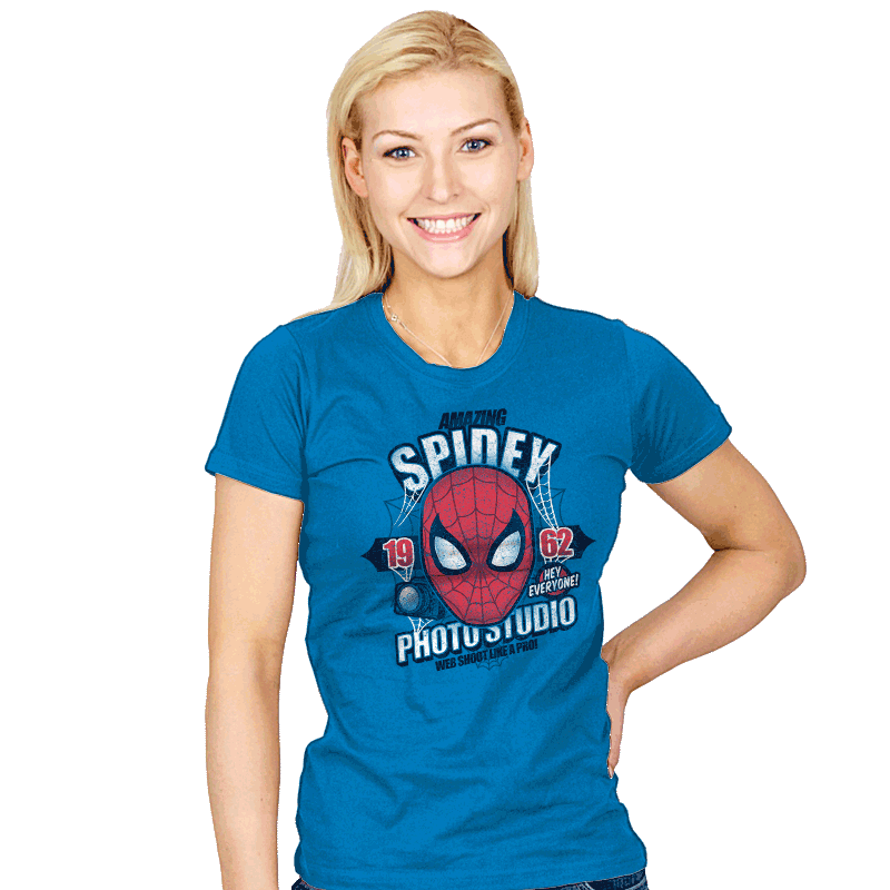 Spidey Photo Studio Exclusive - Womens - T-Shirts - RIPT Apparel