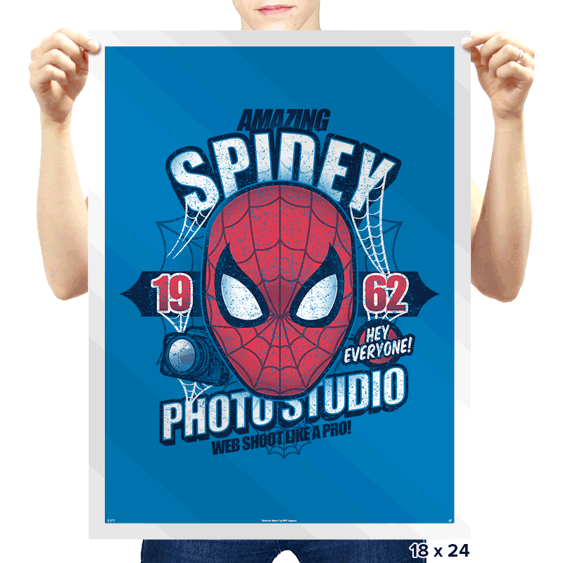 Spidey Photo Studio Exclusive - Prints - Posters - RIPT Apparel