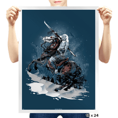 Walker Crossing the North Exclusive - Prints - Posters - RIPT Apparel