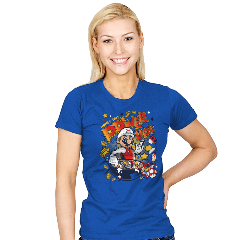 Honey Nut Power Up's - Womens - T-Shirts - RIPT Apparel