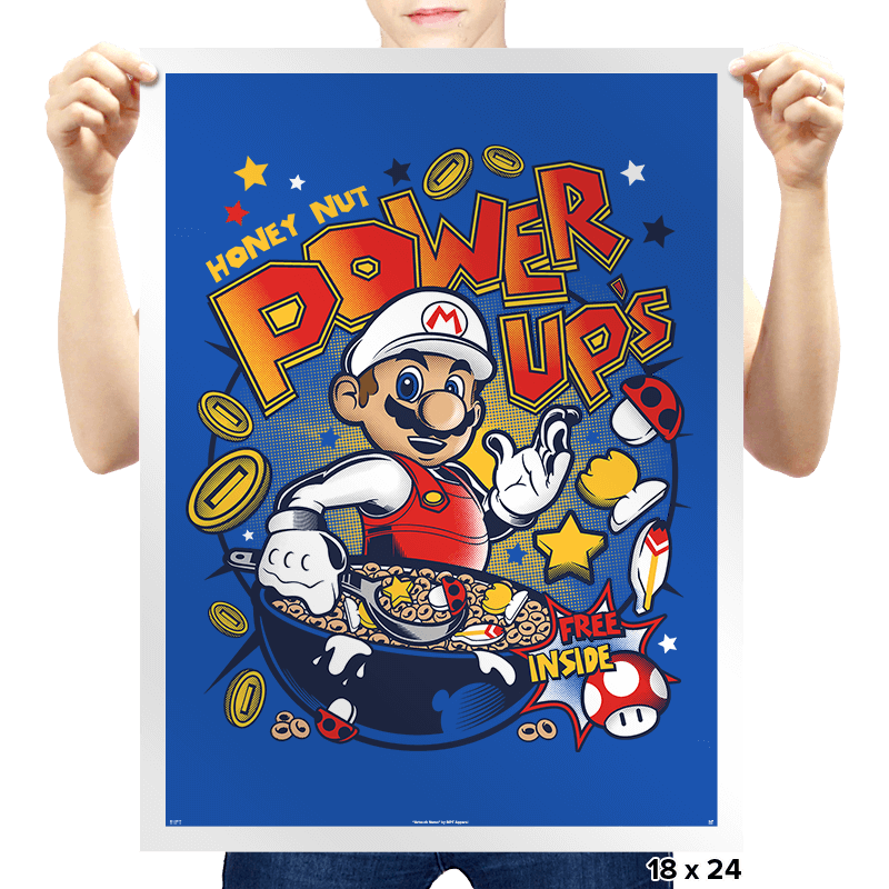 Honey Nut Power Up's - Prints - Posters - RIPT Apparel