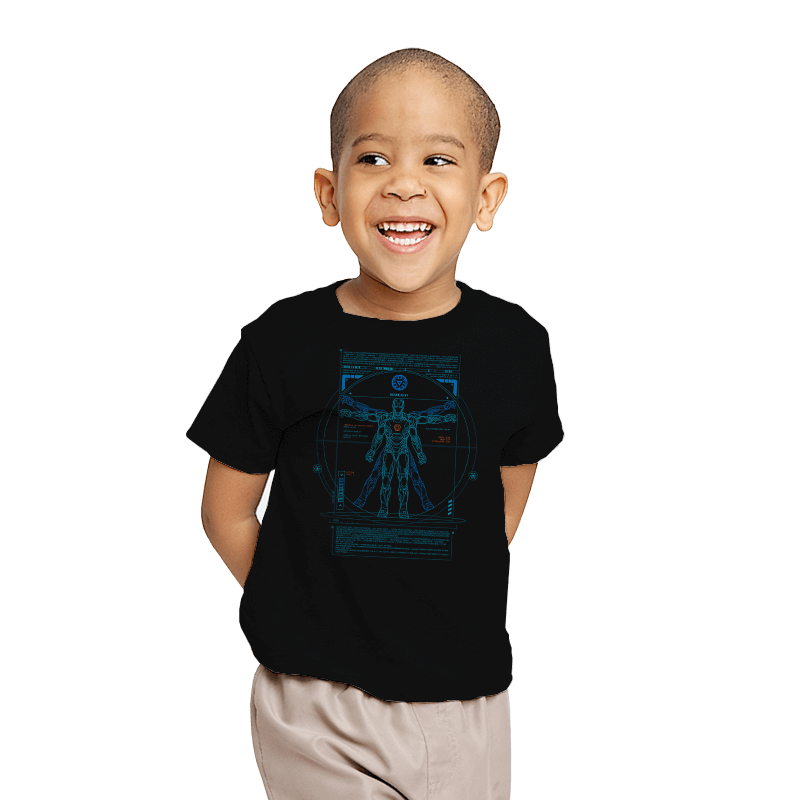 Vitruvian Stark - Youth - T-Shirts - RIPT Apparel