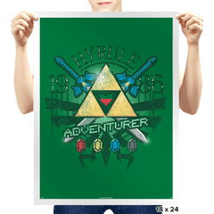 Hyrule Adventurer - Prints - Posters - RIPT Apparel