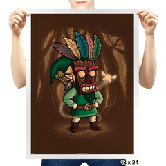 The Legend of Aku Aku Mask - Prints - Posters - RIPT Apparel