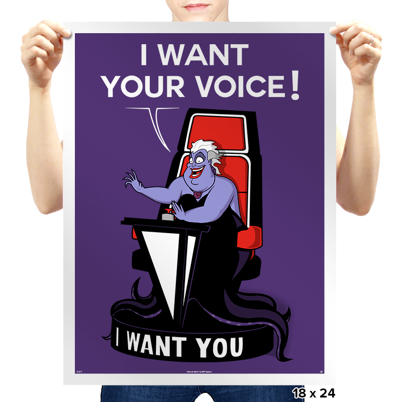 I Want Your VOICE! - Prints - Posters - RIPT Apparel