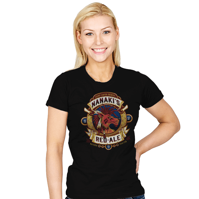 Nanaki's Red Ale - Womens - T-Shirts - RIPT Apparel