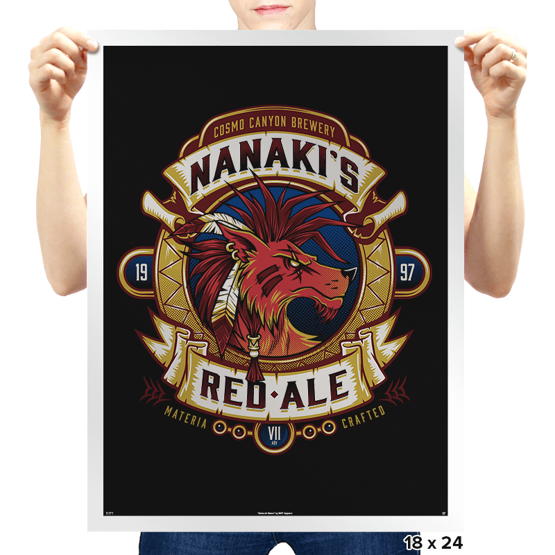 Nanaki's Red Ale - Prints - Posters - RIPT Apparel