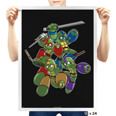 Mega Turtles - Prints - Posters - RIPT Apparel