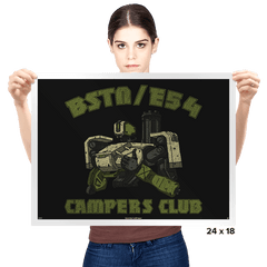 BSTN-E54 Campers Club - Prints - Posters - RIPT Apparel