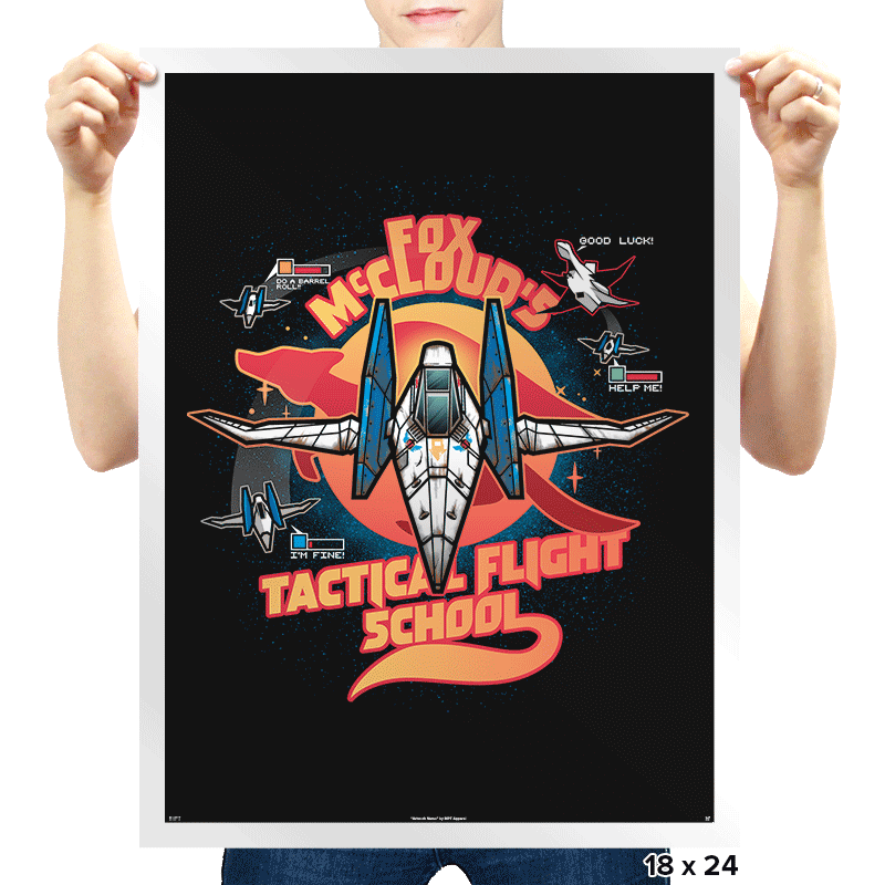 Arwing Flight School - Prints - Posters - RIPT Apparel