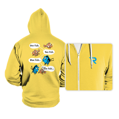 One Fish, Blue Fish - Hoodies - Hoodies - RIPT Apparel