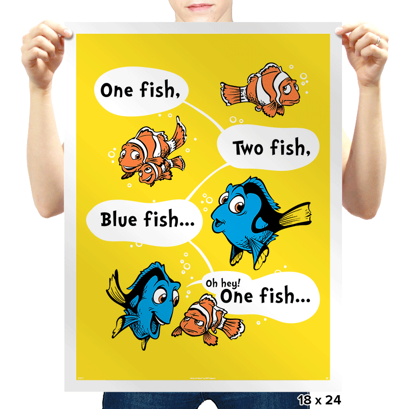 One Fish, Blue Fish - Prints - Posters - RIPT Apparel