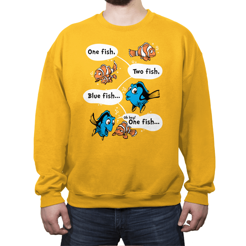 One Fish, Blue Fish - Crew Neck - Crew Neck - RIPT Apparel
