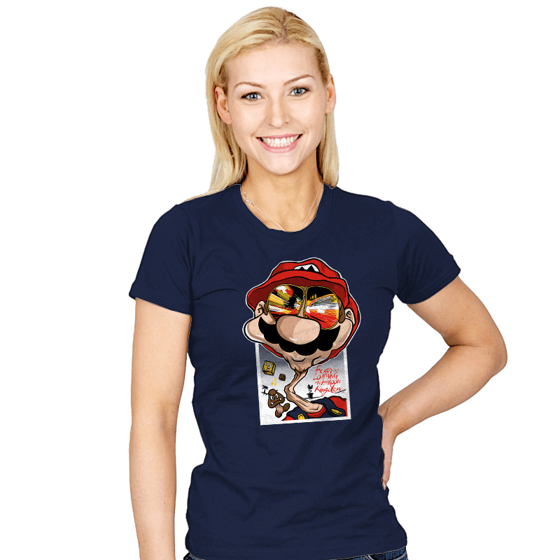 Fear and Loathing in Mushroom Kingdom - Womens - T-Shirts - RIPT Apparel