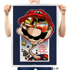 Fear and Loathing in Mushroom Kingdom - Prints - Posters - RIPT Apparel