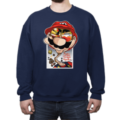 Fear and Loathing in Mushroom Kingdom - Crew Neck - Crew Neck - RIPT Apparel