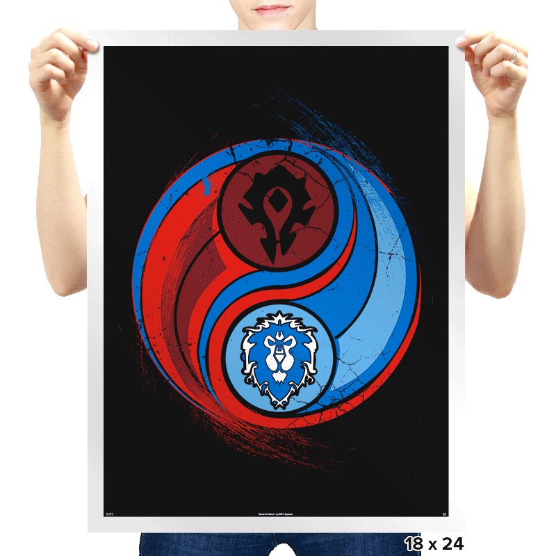 Yin-Yang of War - Prints - Posters - RIPT Apparel