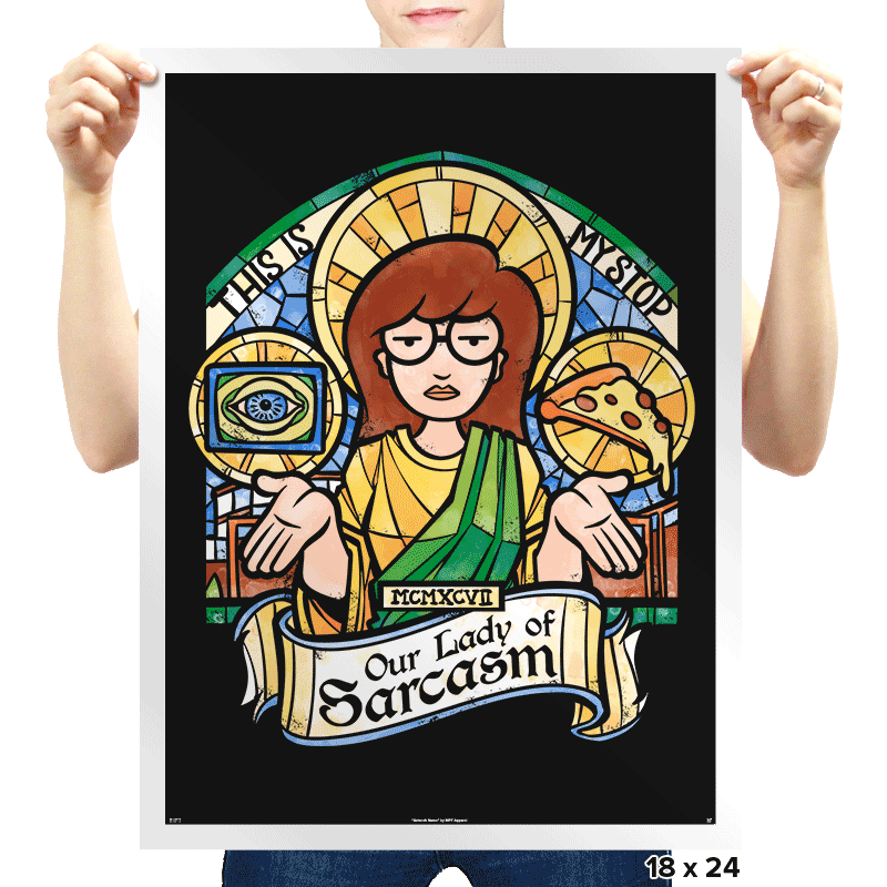 Our Lady of Sarcasm - Prints - Posters - RIPT Apparel
