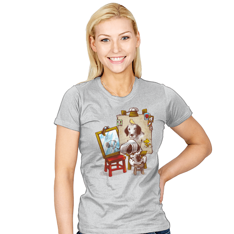 Triple Beagle Portrait - Womens - T-Shirts - RIPT Apparel