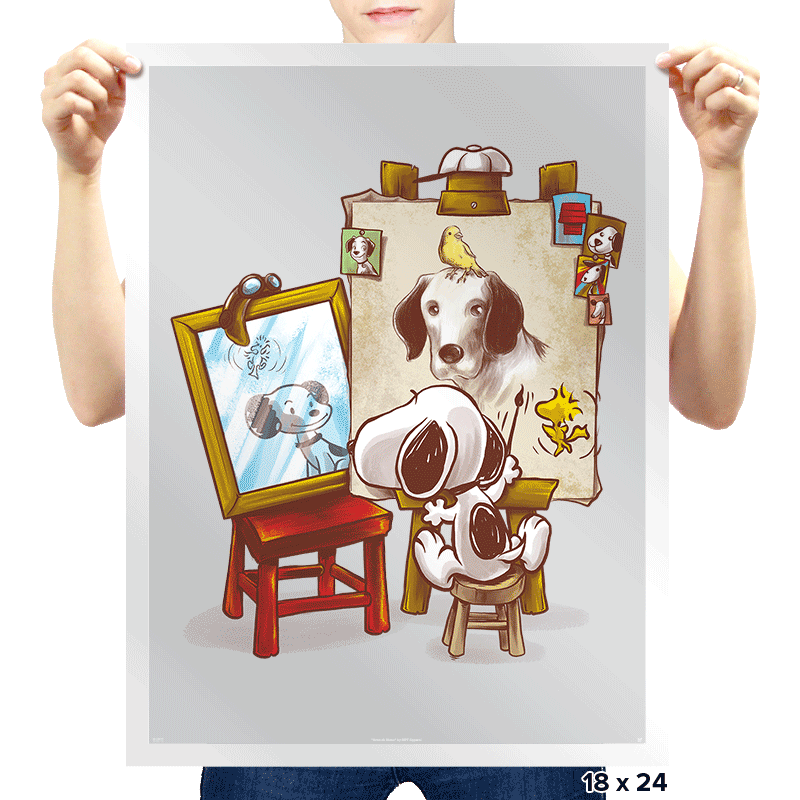 Triple Beagle Portrait - Prints - Posters - RIPT Apparel