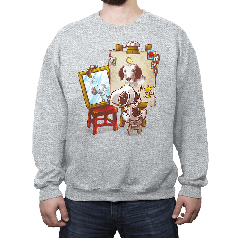 Triple Beagle Portrait - Crew Neck - Crew Neck - RIPT Apparel