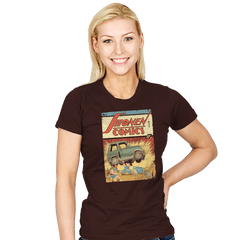 Shonen Comics - Womens - T-Shirts - RIPT Apparel