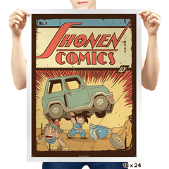 Shonen Comics - Prints - Posters - RIPT Apparel