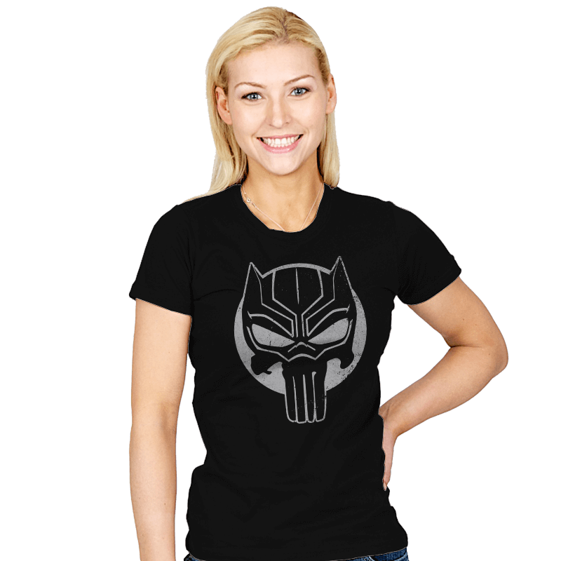 The Black Punisher - Womens - T-Shirts - RIPT Apparel