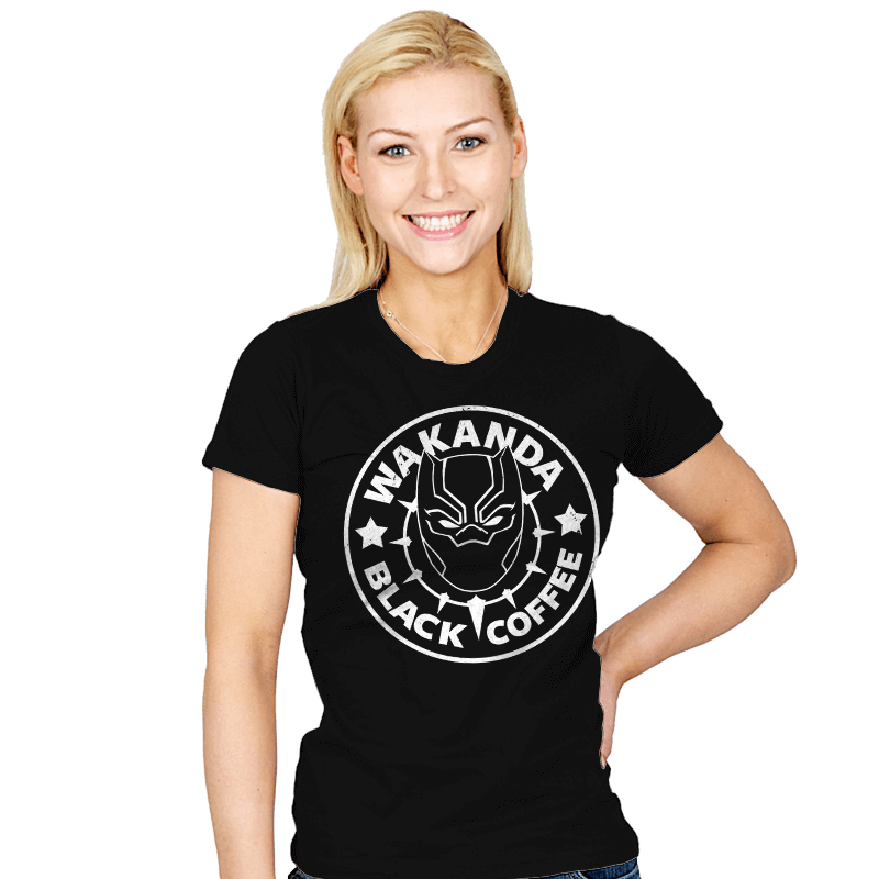 Wakanda Black Coffee - Womens - T-Shirts - RIPT Apparel