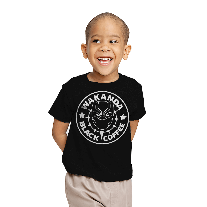 Wakanda Black Coffee - Youth - T-Shirts - RIPT Apparel