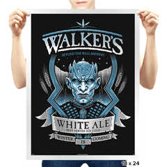 Walker's White Ale - Prints - Posters - RIPT Apparel