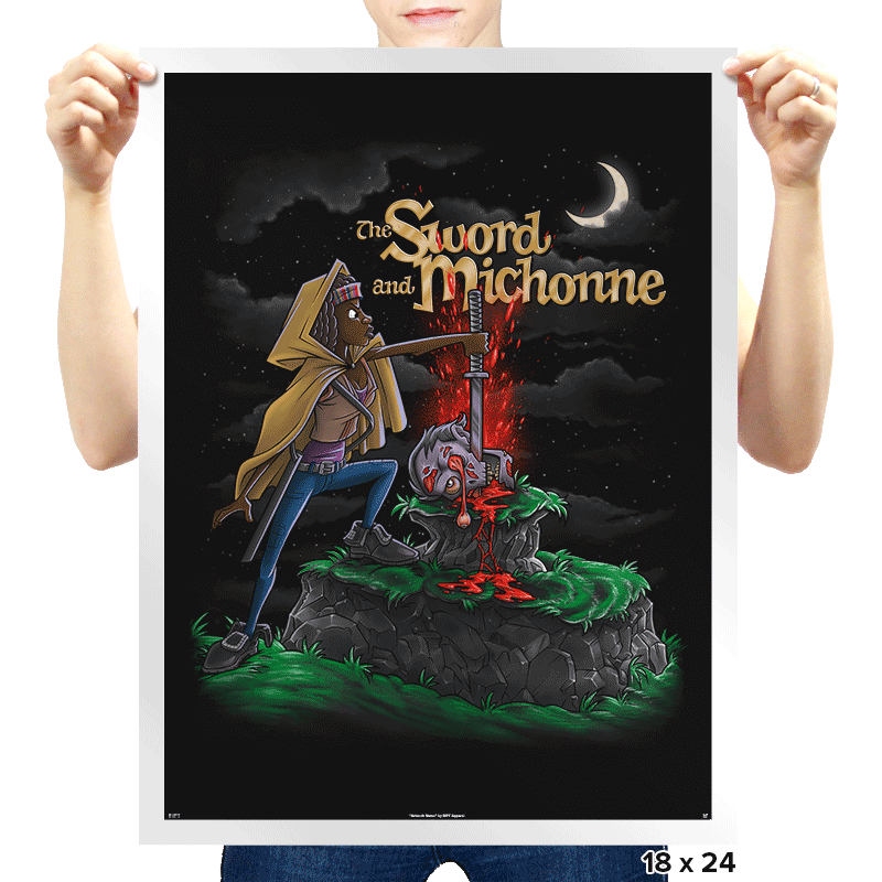 The Sword and Michonne - Prints - Posters - RIPT Apparel