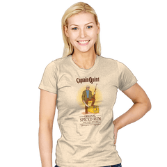 Captain Quint Spiced Rum - Womens - T-Shirts - RIPT Apparel